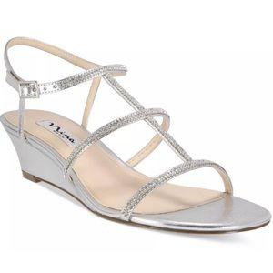 NEW Nina Women's Floria Evening Sandals Silver 5.5